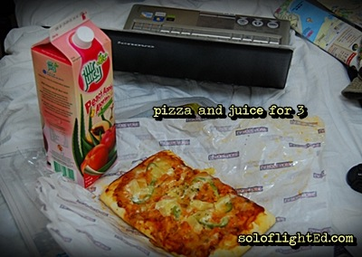 pizza and juice