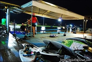 night time wakeboard