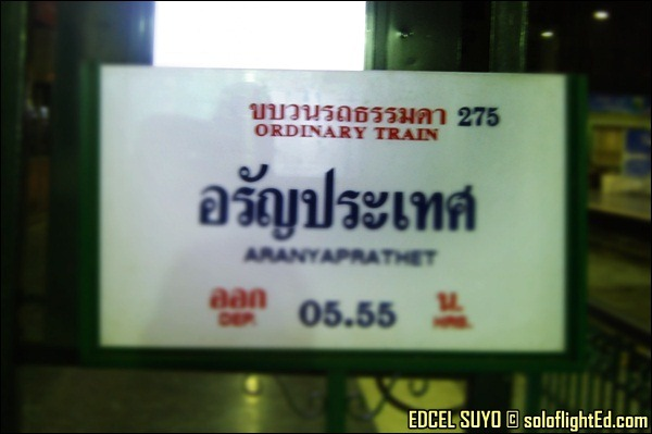 ordinary train to aranyaprathet