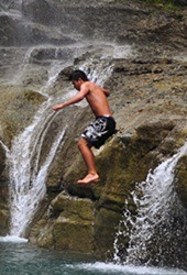 jumping waterfalls