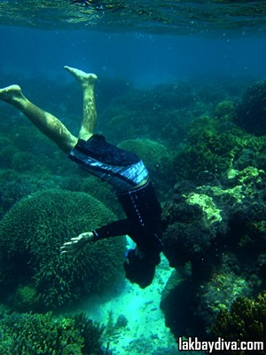 headstand underwater 