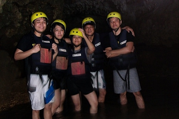 white water rafting cave