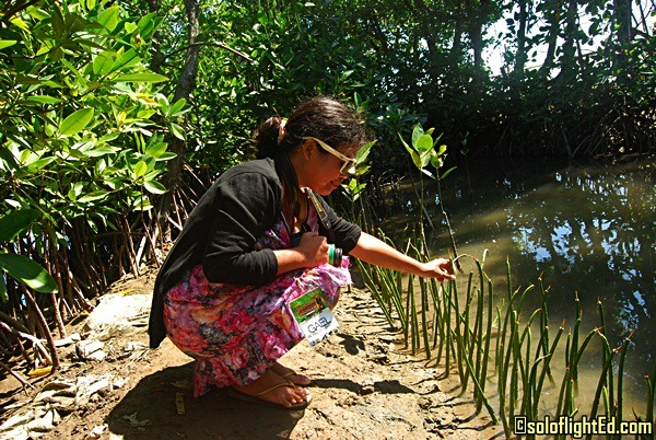 the pinay solo backpacker planting