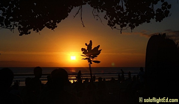 bali sunset kuta beach